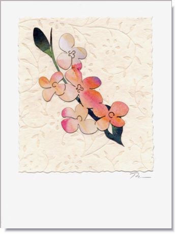 apple blooms greeting card