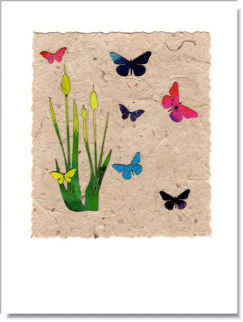 Marsh Butterflies greeting card
