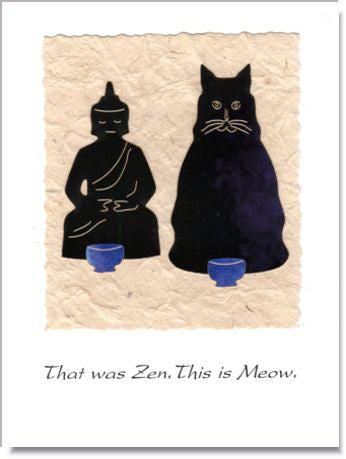 Zen and Meow Handmade Greeting Card ~ 826