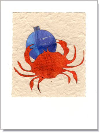 Crab and Ornament Greeting Card