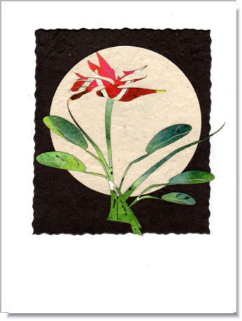 Bird of Paradise Moon greeting card