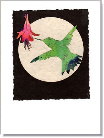 Fuchsia Moon Greeting Card ~ 942
