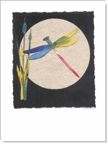 Dragonfly Moon Handmade Greeting Card ~ 984