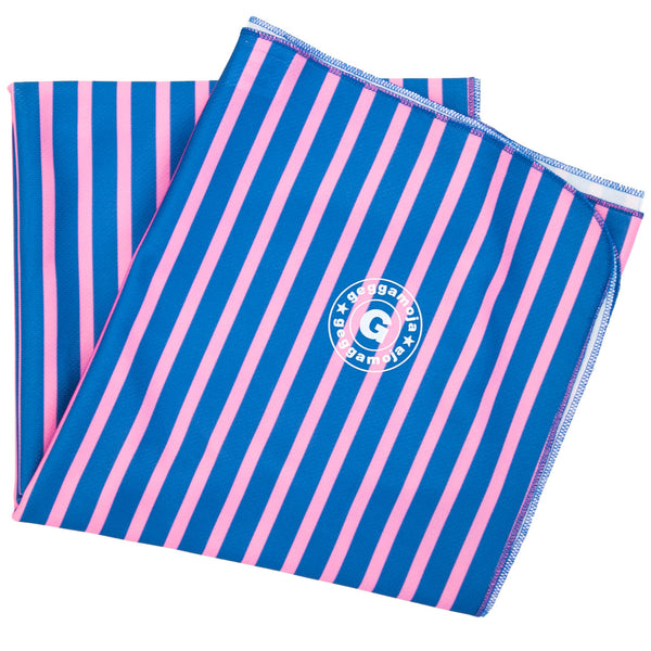 Geggamoja UV blanket blue/pink stripes