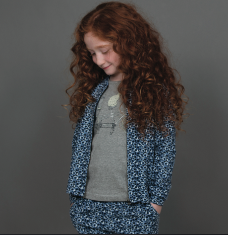 Wheat girls cardigan with zipper