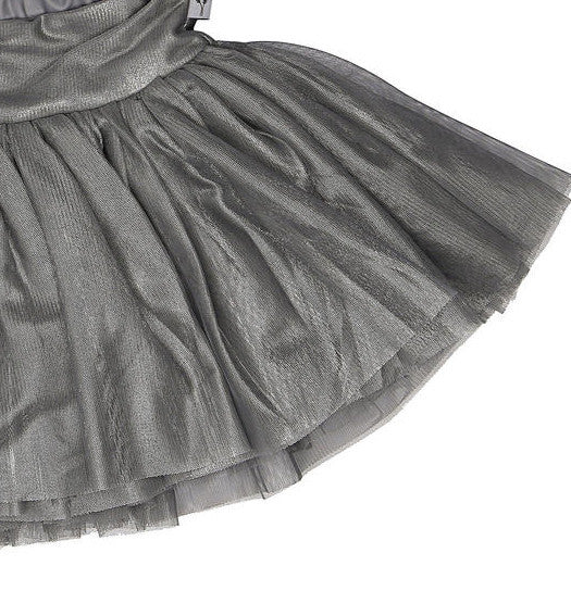 Wheat tulle skirt, silver