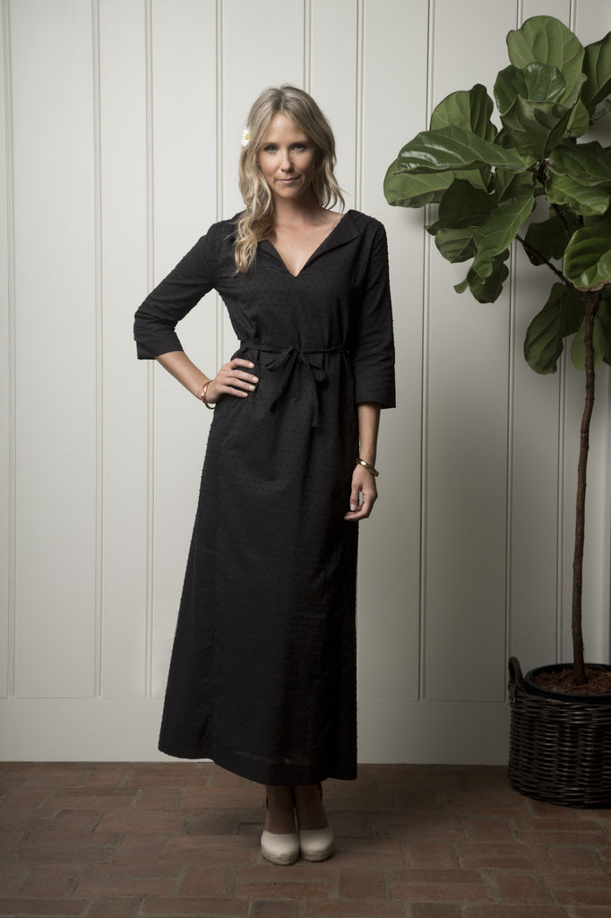 Carmel Cabana Dress - Midnight Dot