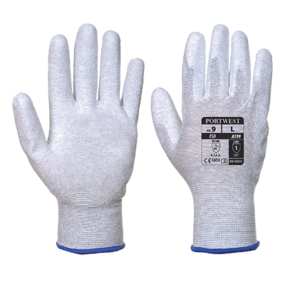 Antistatic PU Palm Glove
