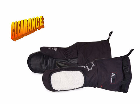 Deluxe Calfskin Extreme Cold Weather Mitt with Removable Fleece Liner