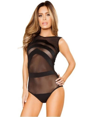 Sheer Striped Romper-Roma Costume-Exotic Angels Boutique