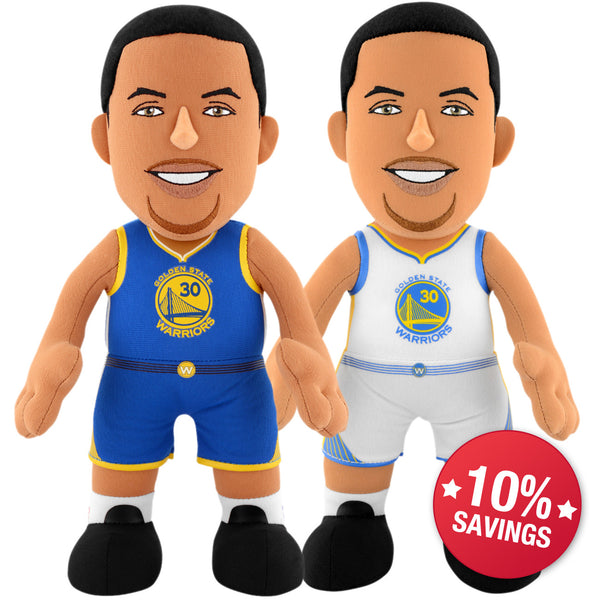 "Golden State Warriors® Dynamic Duo - Steph Curry Icon & Association Uniform 10"" Plush Figures"
