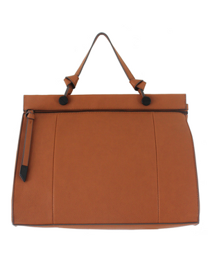Dione Satchel in Cognac