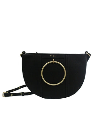 Limelight City Crescent Crossbody in Black