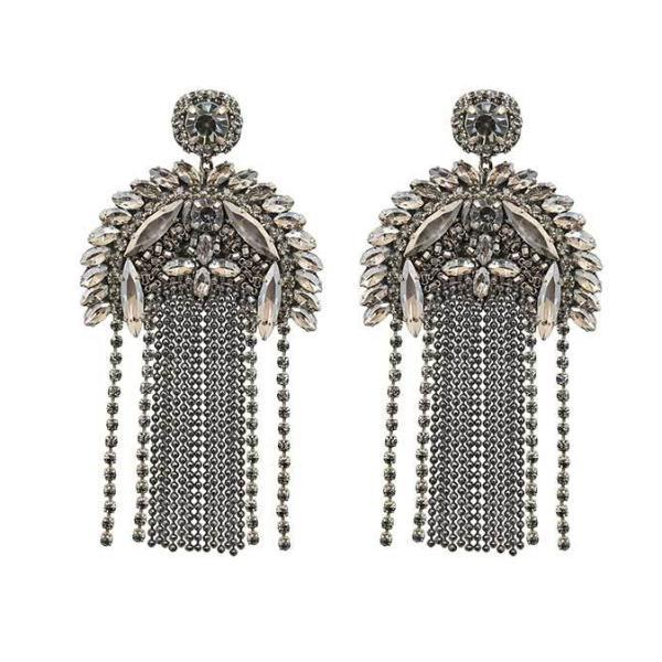 Silver Paulette Earrings by Deepa