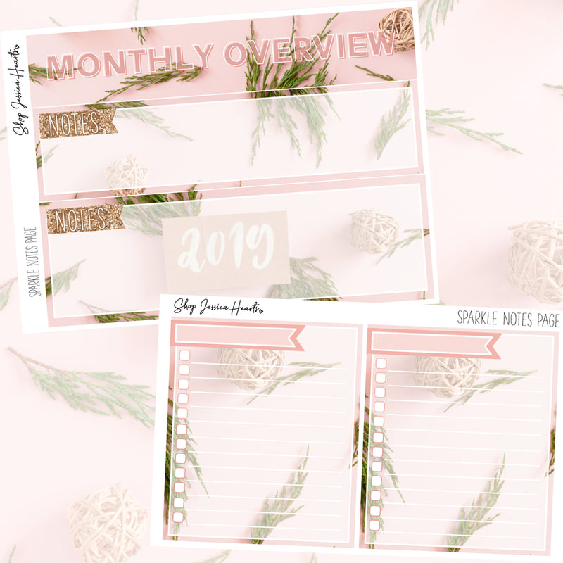 Sparkle January Notes Page Kit, Monthly/Notes Kits - Jessica Hearts