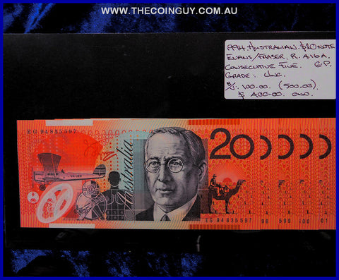 1994 Australian Twenty Dollar Polymer Notes Unc