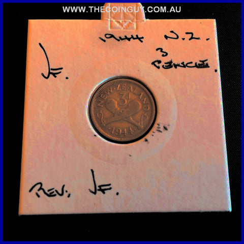 1944 New Zealand Three Pence  VF