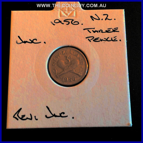 1956 New Zealand Three Pence UNC
