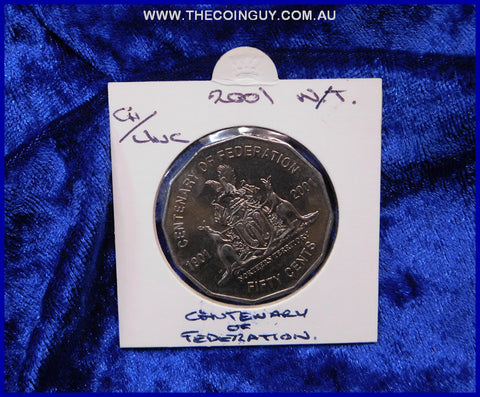 2001 Australian Fifty Cent Coins Northern Territory Ch/Unc