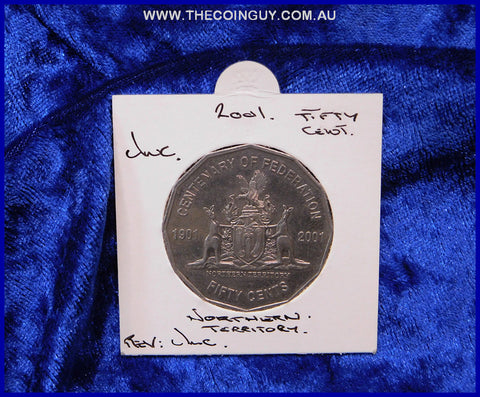 2001 Australian Fifty Cent Coins Northern Territory Unc