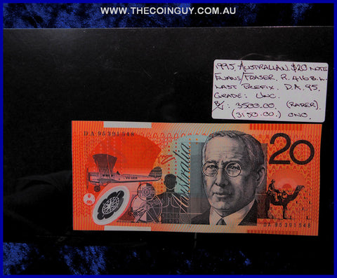 1995 Australian Twenty Dollar Polymer Notes Unc