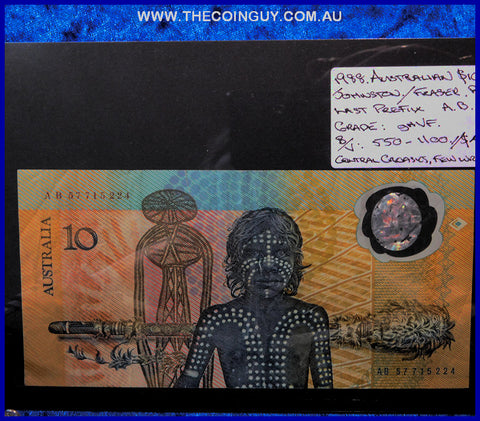 1988 Australian Ten Dollar Polymer Notes ghVF