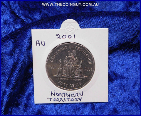 2001 Australian Fifty Cent Coins Northern Territory Au