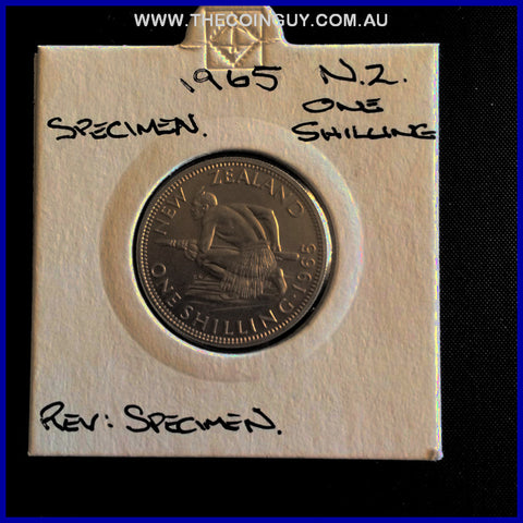 1965 New Zealand Shilling Specimen