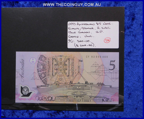 1993 Australian Five Dollar Polymer Notes Unc