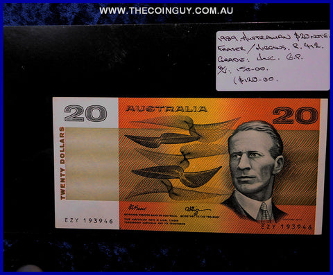 1989 Australian Twenty Dollar Notes Unc