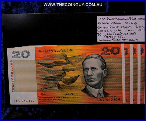1991 Australian Twenty Dollar Notes ghAu-Unc