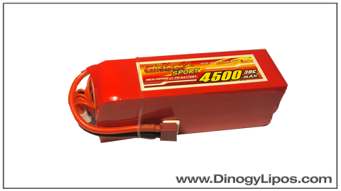 Dinogy Graphene 6s 4500mAh 30C Light weight Pack