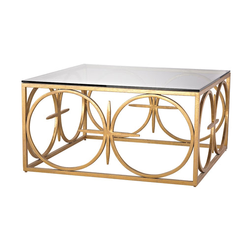 1114-219 Amal Coffee Table Antique Gold Leaf