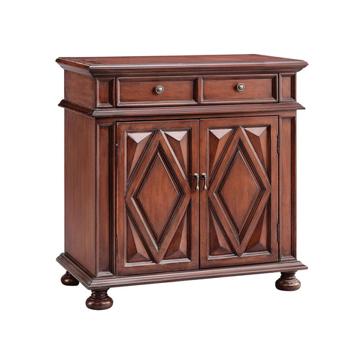 13697 2 Door, 2 Drawer Cabinet Brown