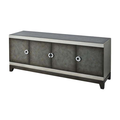 17047 Aleksey Media Console Antique Pewter, Silver