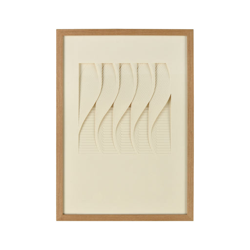 3168-062 Blank Verse Shadow Box Cream, Natural Wood