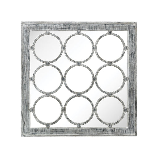 3183-002 Maidstone Wall Mirror Antique White, Black Ash