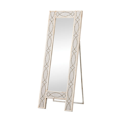 3183-018 Albiera Dressing Mirror Driftwood Grey, Natural Linen