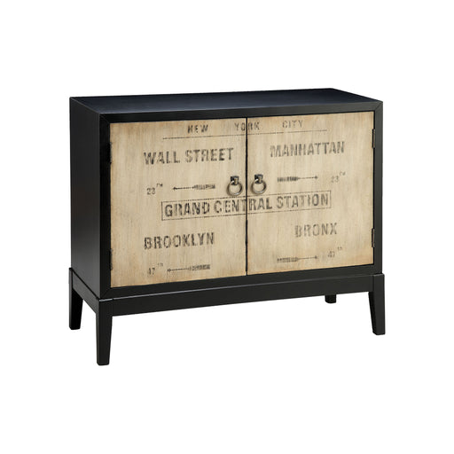 47616 Station Cabinet Dark Espresso, Hand-Painted