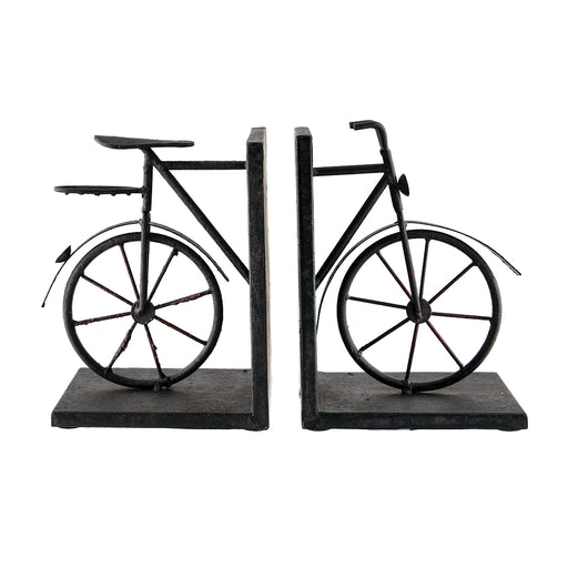 51-3857 A-Pair Bicycle Bookends Aged Red, Rust