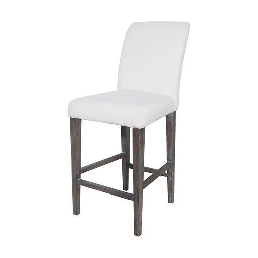 7011-124 Couture Covers Parsons Bar Stool In Heritage Stain With White Wash Heritage Stain, Whitewash
