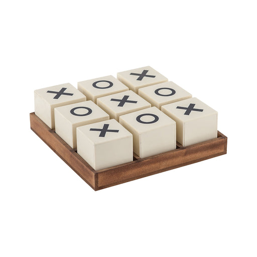8903-048 Crossnought Tic-Tac-Toe Game Cream, Natural