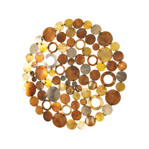 914065 Novell Round Wall Decor Mixed Metals