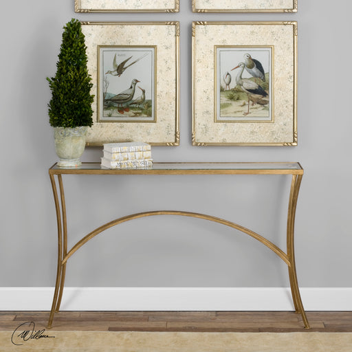 Alayna Gold Console Table