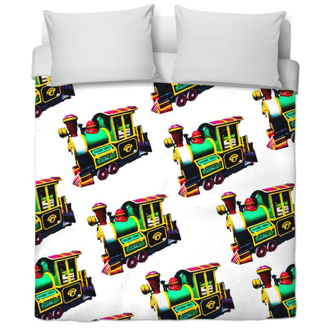 Trains Duvet Cover