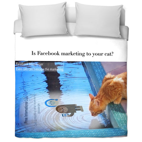 FB Cat Duvet Cover