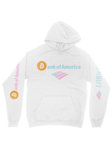 bitcoin of america white hoodie - Public Space xyz - vaporwave aesthetic clothing fashion, kawaii, pastel, pastelgrunge, pastelwave, palewave