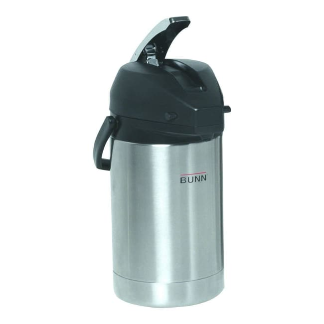 BUNN 32125.0000 2.5 Liter Lever-Action Airpot Stainless Steel - Airpot