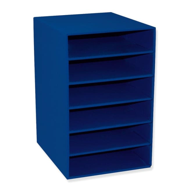 Classroom Keepers 6-Shelf Organizer Blue - shelf