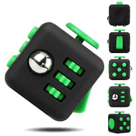 Multi-Functional Stress Fidget Cube - 4 Pack - Black /Green - accessories